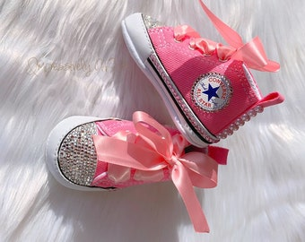 a48d7197cc08 Baby Girl Shoes   Bling Converse   Bling Baby Shoes