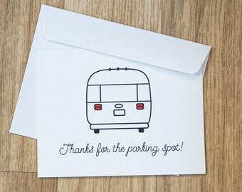 Airstream Parking Thank You