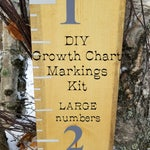 DiY Growth Chart Ruler Markings Kit LARGE/ original design, 60+ Colors including Glitter - Lumberjack/ Camo/ Rainbow/Holographic|  & 12 Diff