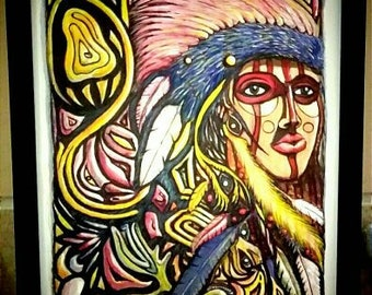 colourful piece with an aboriginal influence