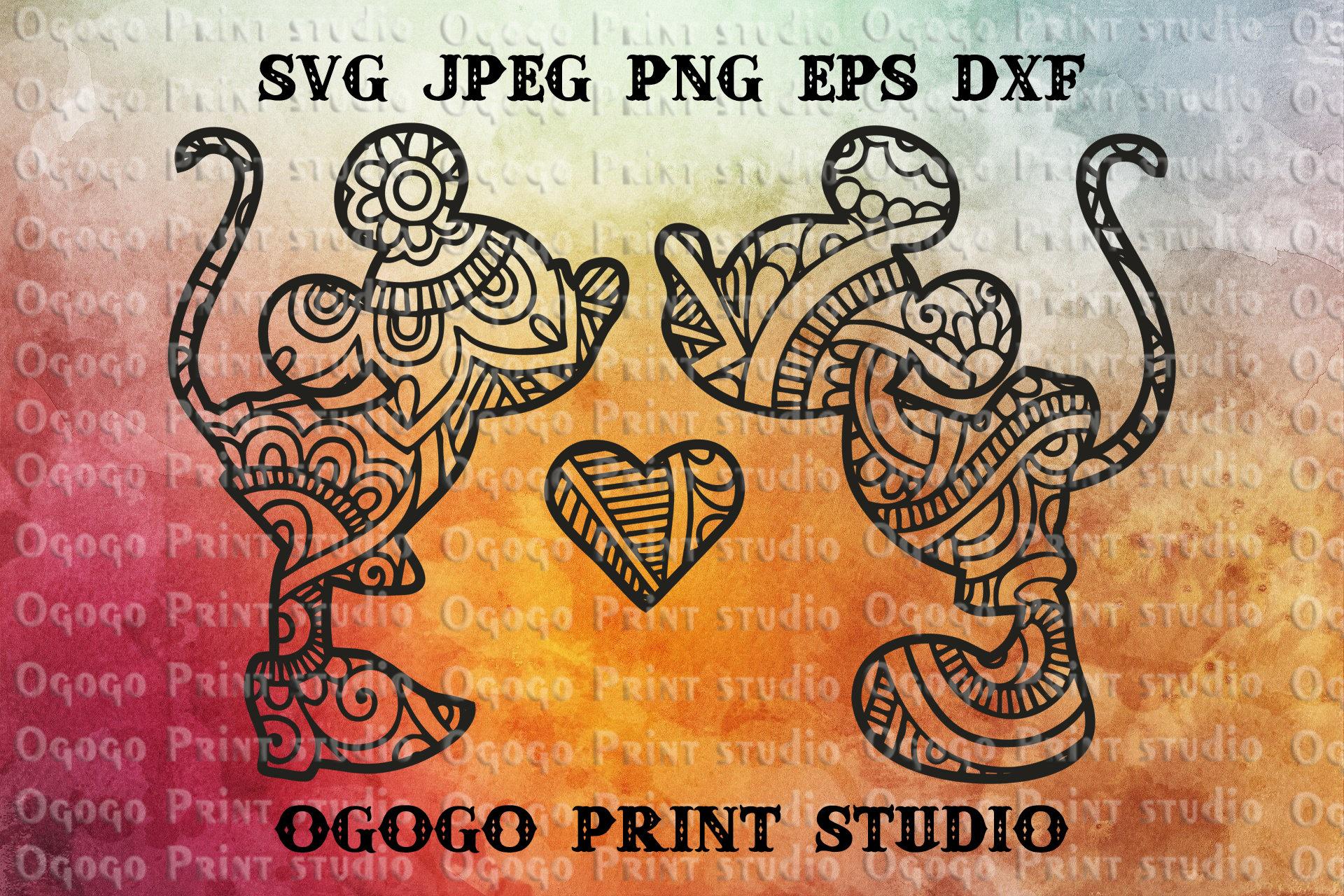 Mickey Mouse SVG Zentangle SVG Minnie Mouse Svg Doodle Art