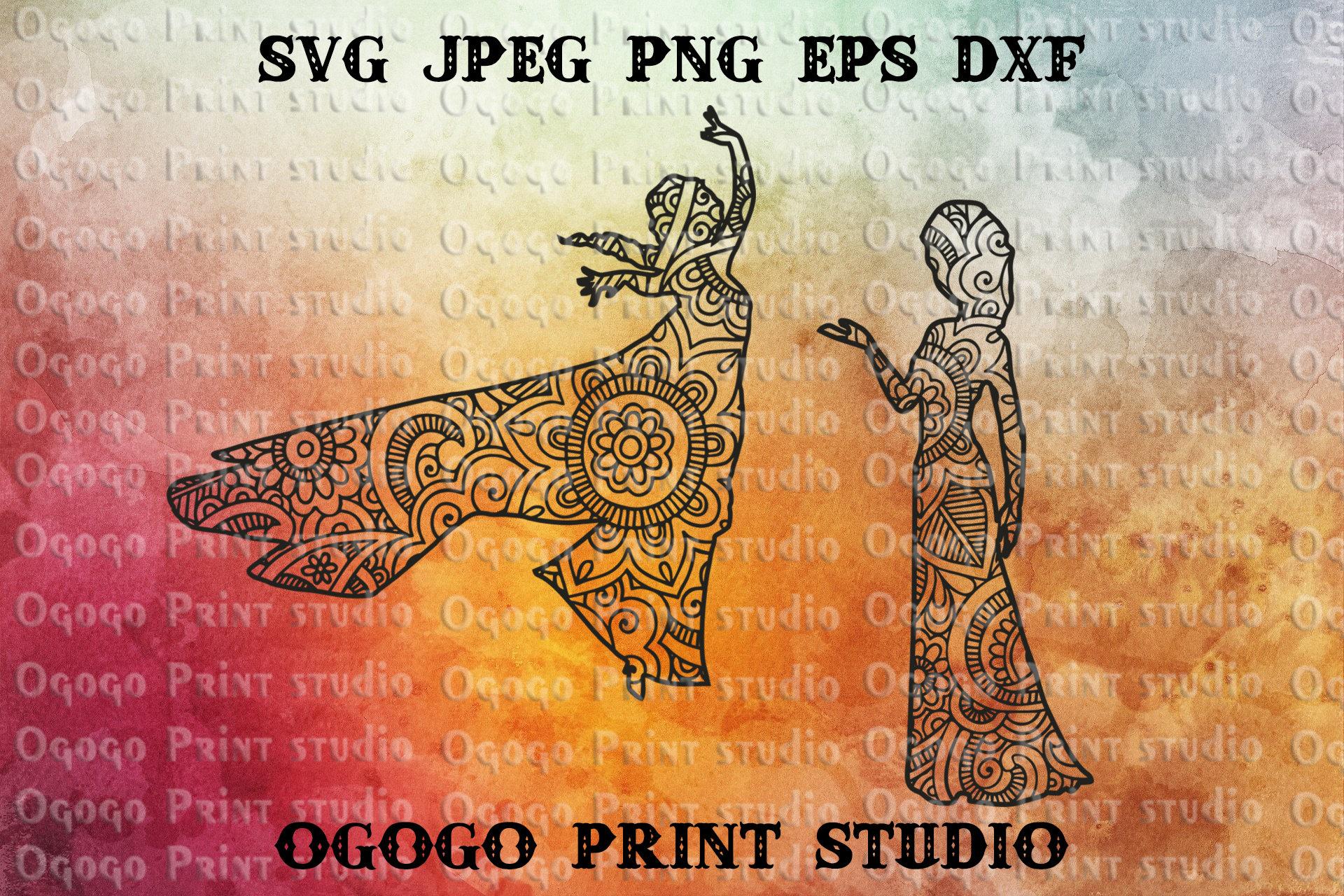Mandala style Princess Elsa Svg Zentangle SVG Frozen Svg