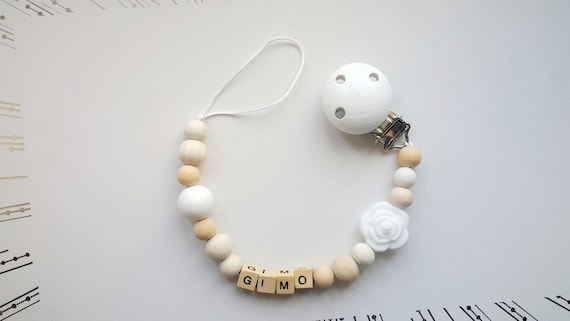 SOOTHER PACIFIER PERFECT CHRISTENING GIFT BUY 2 GET 3 PERSONALISED DUMMY CLIP