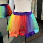 Rainbow Satin Edge TUTU Adult Sizes Pride Unicorn