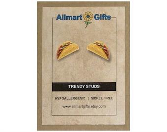 Taco Stud Earrings Statement Jewelry Best Friend Gift Birthday Handmade For Her Mom