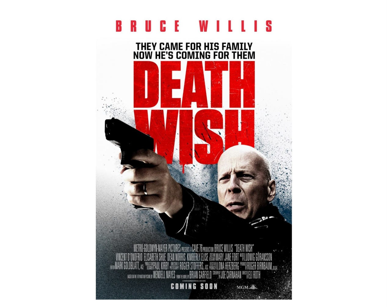 Death Wish 2018 Movie Poster Home Decor Office Decor Digital | Etsy