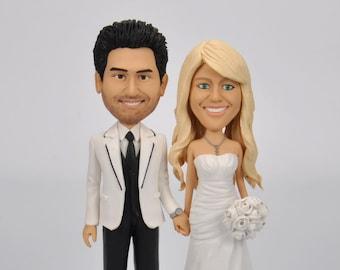 Funny wedding cake topper, cake topper for wedding ,bobble head,Custom wedding bobblehead