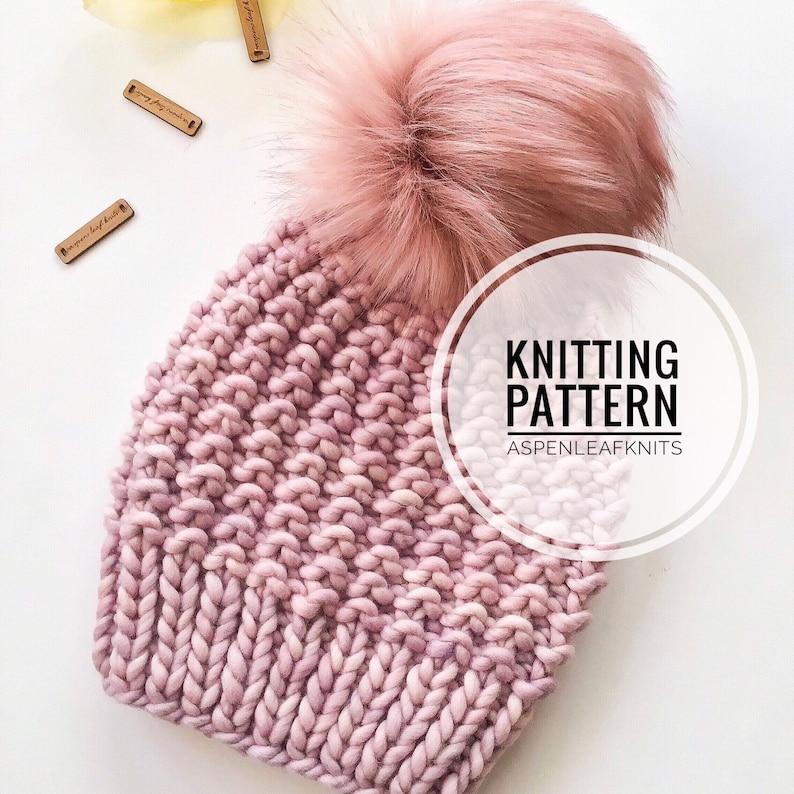 Hat Knitting Pattern Beanie Knitting Pattern THE PINECREST BEANIE by Aspen Leaf Knits Knitting Pattern