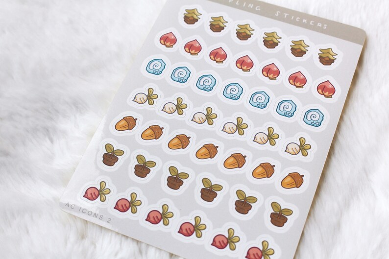 Tiny Animal Crossing Icons 2 Stickers New Horizons New ...