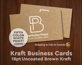 Business Cards – 18pt Brown Kraft