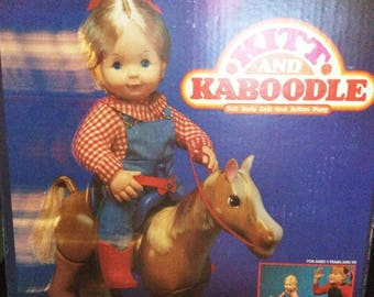 Vintage 1984 Kitt Doll and Kaboodle The Pony New in the Box By Ideal