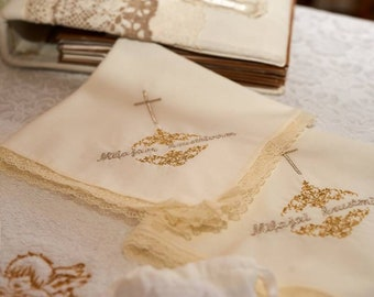 a gift • a gift for godparents • handkerchief • christening • baptism • keepsake • you can choose your own text