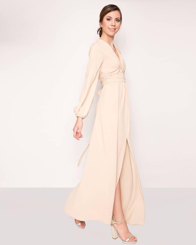 Nude evening gown beige evening dress bridesmaid dressprom | Etsy