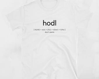 d8cc5d897 HODL Crypto Jargon Guide Shirt - Cryptocurrency Printed T-Shirt -  Cryptocurrency Funny Gifts, Crypto Trader, Blockchain Merchandise