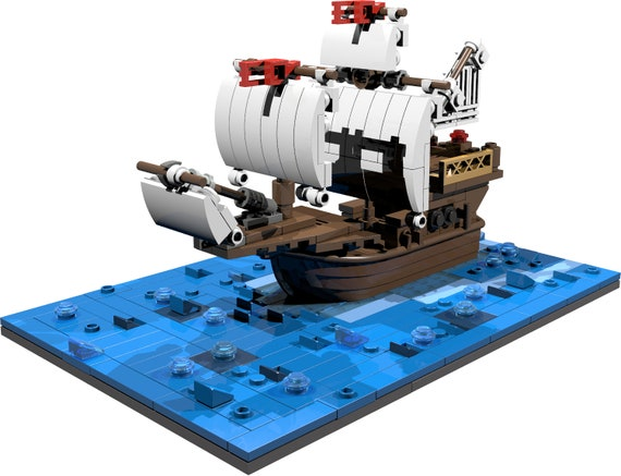 Santa Maria miniscale ship with ocean baseplate PDF building instructions  on how to build out of LEGO® bricks