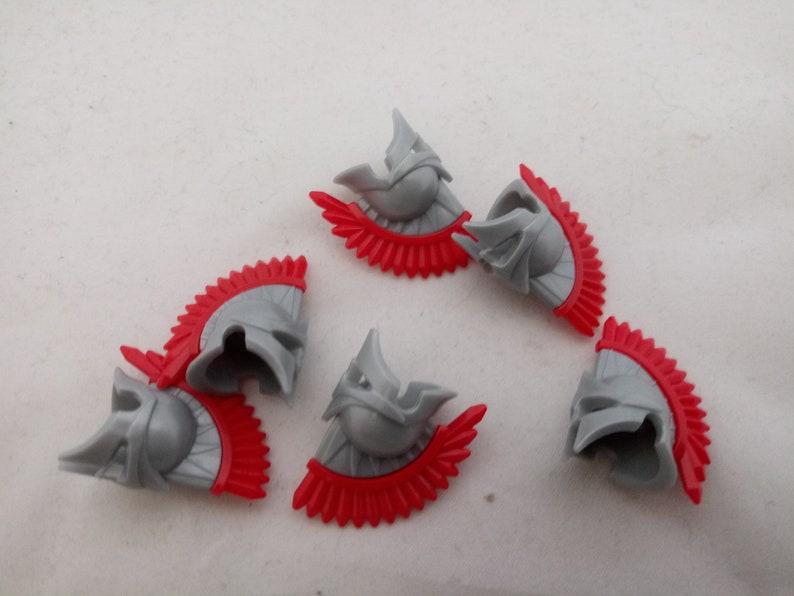 6 silver helmets for LEGO\u00ae figures