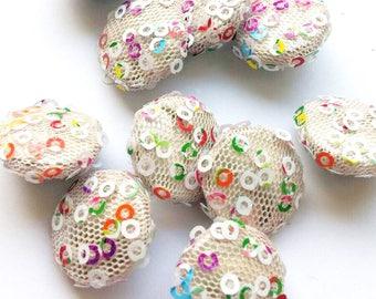Handmade buttons 10stück buttons fabric-related buttons