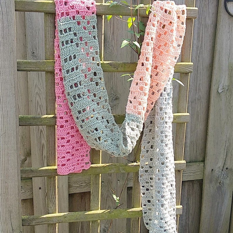 UK terms Crochet Pattern Summer Scarf image 0