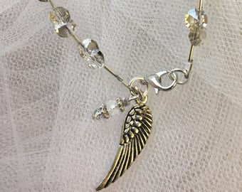 Angel Wing Necklace, Bracelet and Earrings