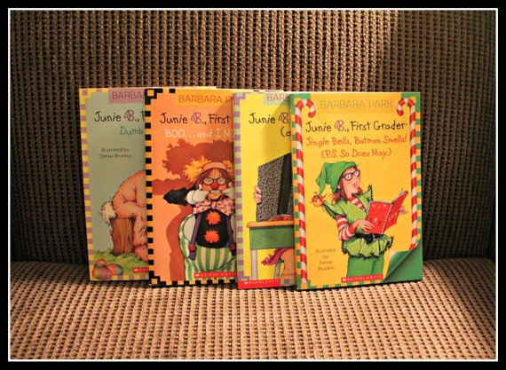 Lot Of 4 Junie B First Grader Books By Barbara Park And Etsy