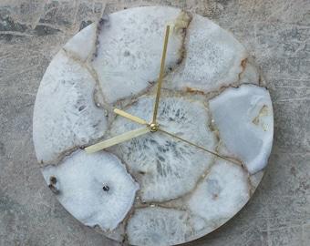 Agate Clock Etsy