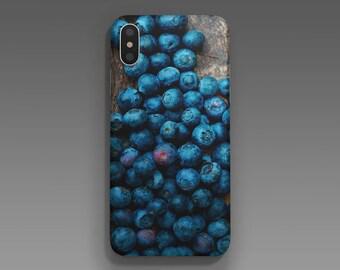 Blueberries Phone case, iPhone X, iPhone 8/8 Plus, iPhone 7/7 Plus, iPhone 6 6S, iPhone 6 Plus 6S Plus, Samsung Galaxy S8/S8 Plus case