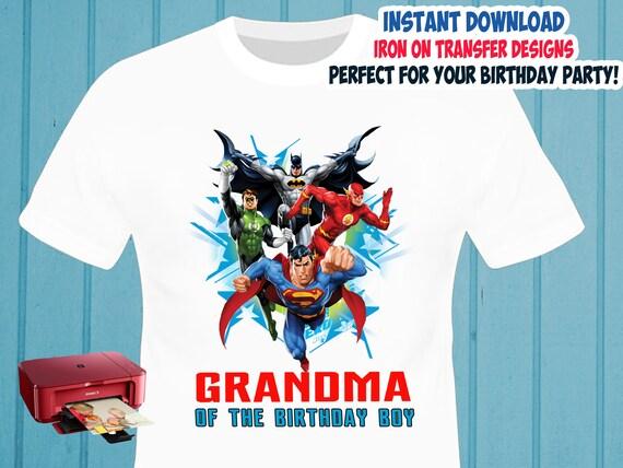 Justice League Iron On Transfer Grandma Birthday Shirt