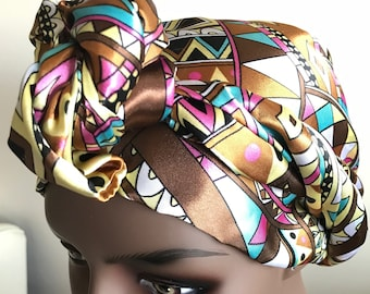 Satin african print scarf women, tribal scarf, womens scarf, scarves women, scarves, gift women, gifts for her, neck scarf, headwrap