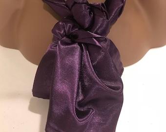Pretty satin purple scarf, head wrap, purple scarves, gifts women, scarves, womens scarves, womens gifts, gifts women