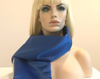 Royal blue matte satin scarf, blue scarf, scarves for women, satin scarves, wedding accessories
