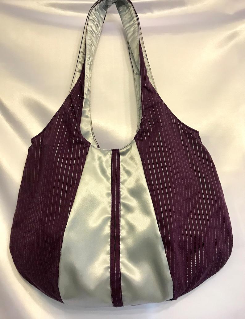 Picture perfect purple and silver bag large purses unique image 0