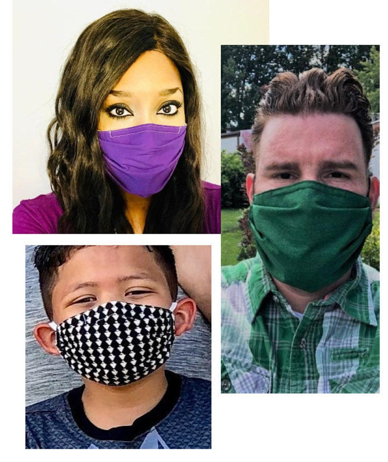 CDC Compliant 5 ply face mask with nose wire filter pocket 5 image 0