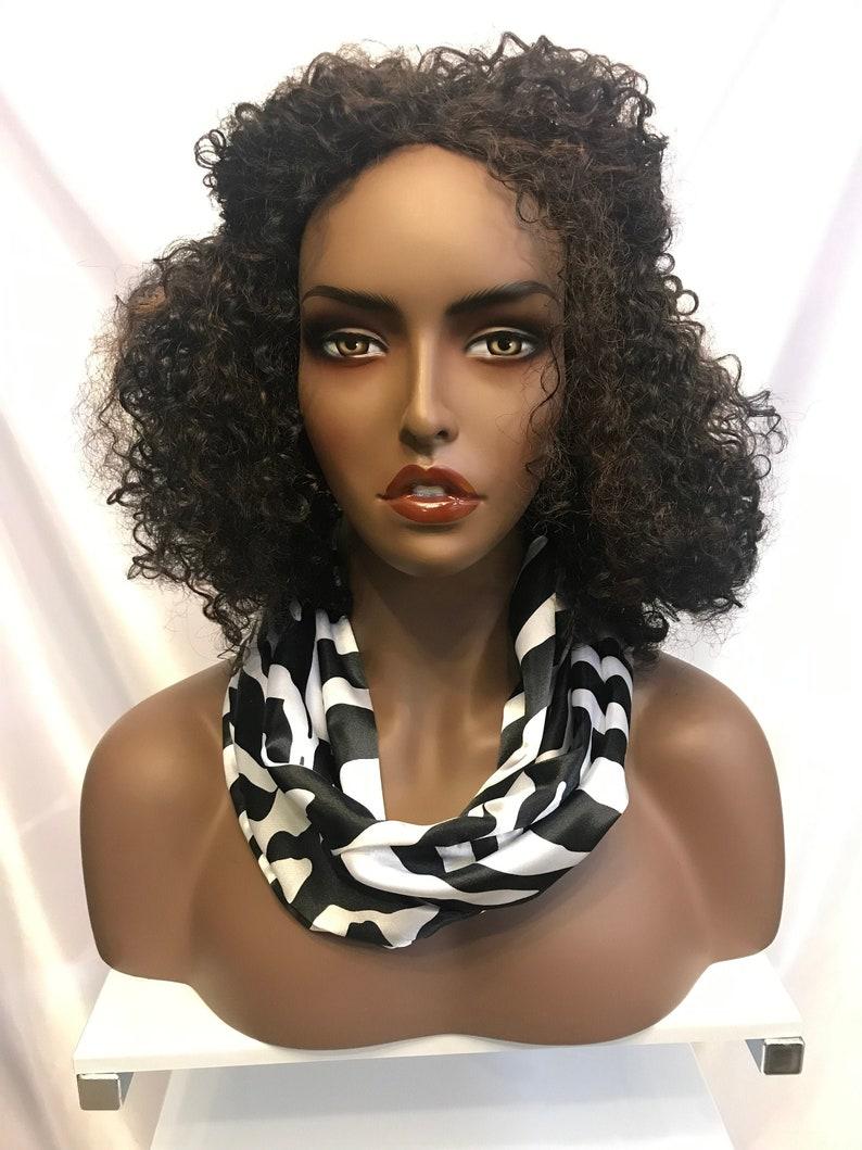 Silky satin zebra print infinity scarf neck scarf image 0