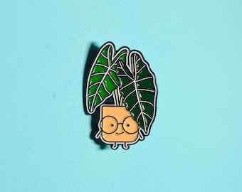 Alocasia frydek Plant Soft Enamel Pin // Botanical Pin // Pin Collection // Plant Gifts // Fryfry from The Plant Alphabet