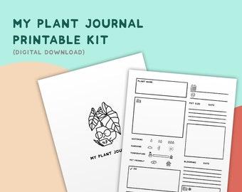 My Plant Journal Printable Kit // DL02