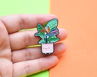 Bird of Paradise Plant Soft Enamel Pin // Botanical Pin // Pin Collection // Plant Gifts