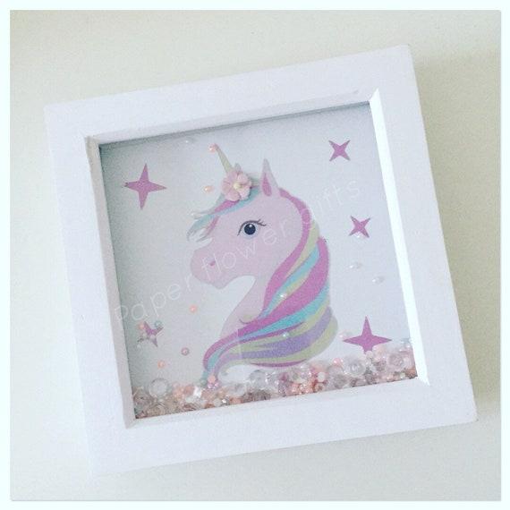 Beautiful unicorn frame/unicorn box frame/unicorn | Etsy