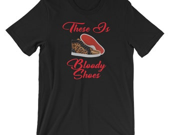 82bd21d8a02 Louboutin t shirt | Etsy