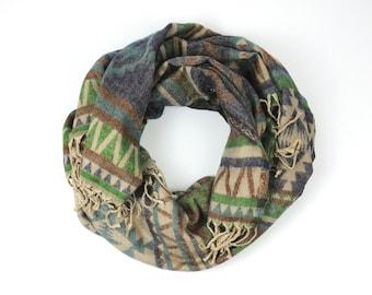 """Scarf, XXL scarf, woven scarf, scarf """"ethnic breeze"""""""