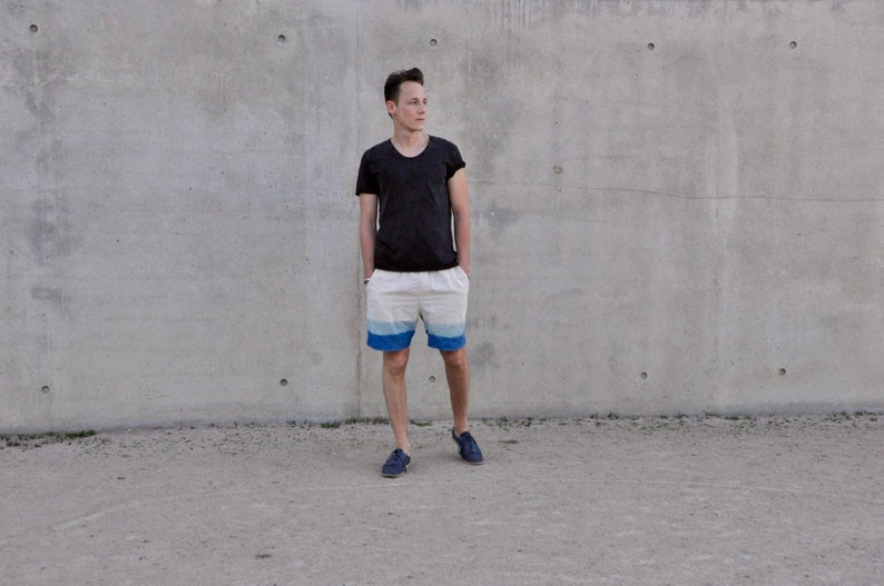 Men Shorts  Shorts made of cotton  short trouser indigoorganic shortsHippie shorts