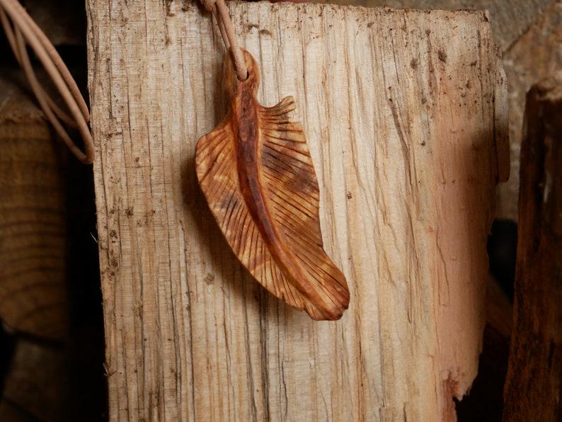 Nature Jewellery Tree Bead Feather
