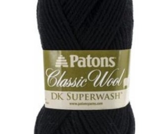 Patons Classic Wool DK Superwash Yarn - Multiple Colors // Wool Yarn // Lightweight Yarn // DK Weight Yarn // Pure New Wool