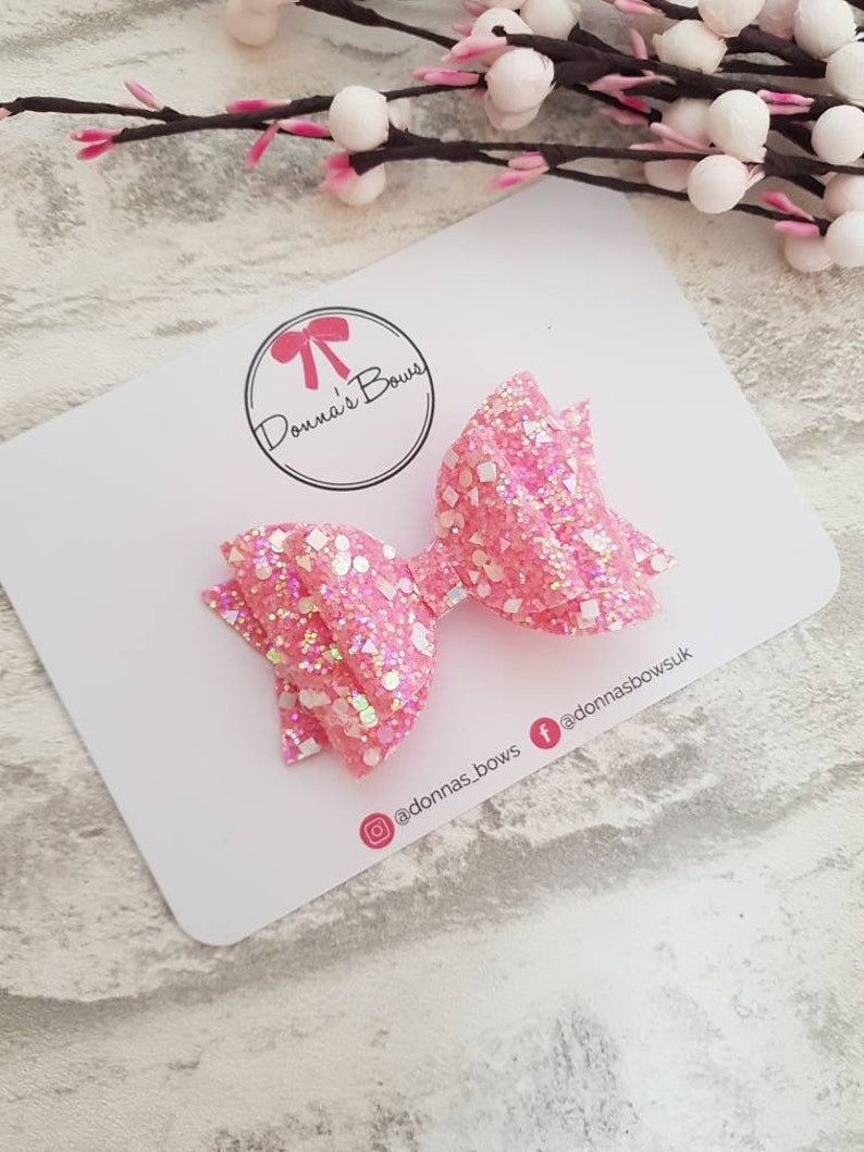 baby pink summer hair bows,clips Baby pink hair bows on alligator clips slides