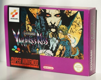 Vampire Kiss  Super Nintendo SNES Box