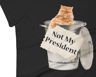 Cat Shirt, Cat tshirt, Cat, Cat Tee, Funny Shirt, Cat Lover Gift, Cat Tank, Cat shirt woman, gifts for her, Not My President, Cat face Shirt