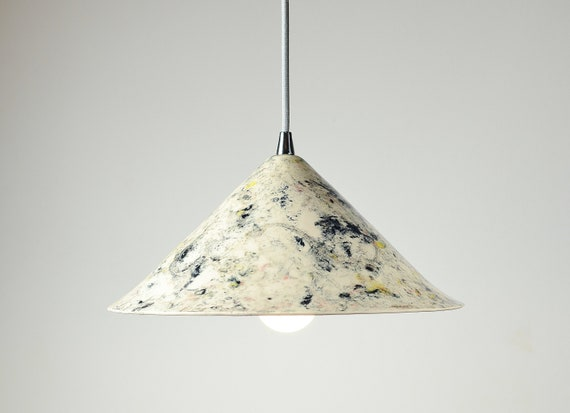 Keramik-Lampenschirm Kronleuchter Licht Leuchte weiß und schwarz Dekor