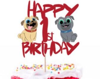 Puppy Dog Pals Inspired Birthday Cake Topper Boy Girl