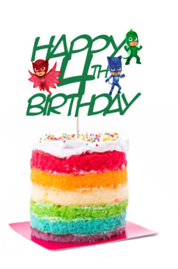 PJ Masks Inspired Birthday Cake Topper Boy