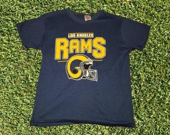 c5d82e65 Vintage Garan Los Angeles LA Rams Graphic NFL Football Crewneck Single  Stitch Tshirt Size Youth XL Made in Usa