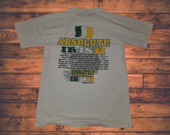 4fe348a63 Vintage 1994 Wild Oats Absolute Absolutely Irish Crewneck Graphic Tshirt  Size Large Made in USA